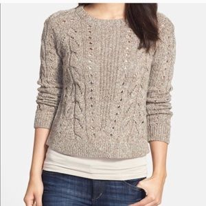 Lucky Brand Tomorrow sweater cable open knit